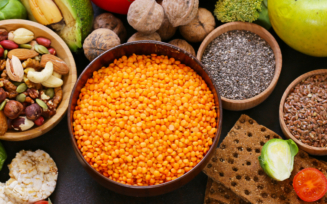 lentils, seeds and nuts that contain endometriosis supporting nutrients